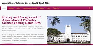 university of colombo science faculty batch 1974